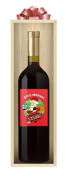Fotografia Vino personalizado Feliz Navidad de Etiqueta tu Vino