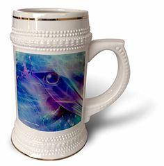 SmudgeArt Bird Artwork Designs - Keeping Watch - Abstract - Bird Art - Blue - 22oz Stein Mug (stn_6575_1) 3dRose http://www.amazon.com/dp/B014795G2G/ref=cm_sw_r_pi_dp_Npubwb1QKQ5TX