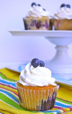 Blueberry Cupcakes #cupcakes #cupcakeideas #cupcakerecipes #food #yummy #sweet #delicious #cupcake