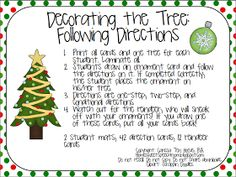 Home Sweet Speech Room : Decorating the Tree: Following Directions *Freebie*