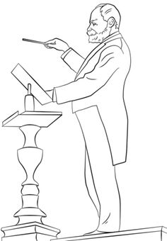 Antonin Dvorak Coloring Page From Composers Category Select 22399