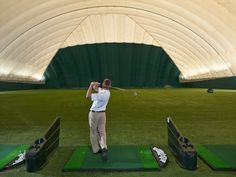 Indoor golf at Turning Stone Sportsplex
