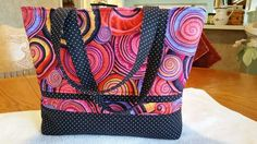 Tuscany tote by Pink Sand Beach Designs. Kaffe fabric