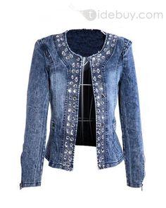 Comfortable Boutique Rhinestone Paillette Jeans : Tidebuy.com #tidebuy