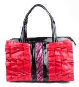 Pink Ruffle Sequence Zebra Handbag