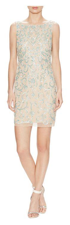 Aidan Mattox Sequin Embellished Sheath Dress - on #sale 55% off @ #Gilt  #AidanMattox