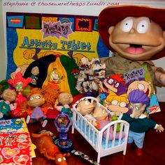 Rugrats merchandise me and my siblings had the Stu, Didi, Angelica, Tommy, and Phil dolls Reptar Rugrats, Rugrats Cartoon, Childhood Memories 90s, Childhood Movies, Best Memories, Back In My Day, 90s Toys, 90s Nostalgia, Cute Kittens
