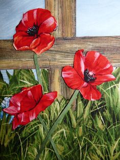 Quilts by JVC ..||.. PATTERNS - Poppies On The Fence Close-ups