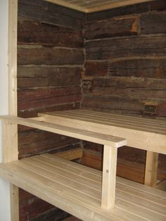 Outdoor Sauna, Small Buildings, Outdoor Furniture, Outdoor Decor, Dining Bench, Tuli, Saunas, Home Decor, Decoration Home