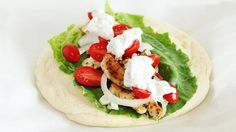 Chicken Gyro    http://www.spryliving.com/articles/healthy-in-30-sandwich-recipes/