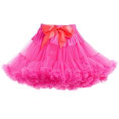 76e1cff9c6 ANGEL'S FACE Neon Pink Chiffon Frilled Tutu Skirt Frill Tops, Crown  Headband, Tulle Dress