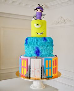Monster Inc in luv cake ✨  By Jenny Ho Delicatesse Postres Panamá   #delicatessepostres #birthdayday #birthdaycake #dessert #postres #party #panama #bakery #fiestaspanama #cumpleaños #cake #bolos #pasteles #dulce #cakedesign #design #cakeartistry #instagramcake #monsterinc #pixarfans Monster Inc Cakes, Instagram Cake, Monsters Inc, Bakery, Birthday Cake, Photo And Video, Party, Desserts, Cakes