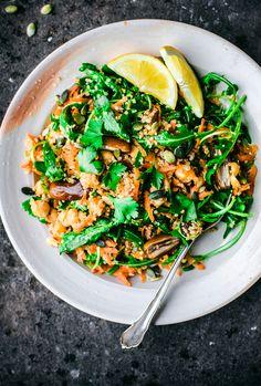 Moroccan Quinoa, Carrot, and Chickpea Salad | Occasionally Eggs