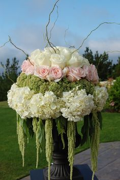 love the texture of green hanging amaranthus ... goes great with pinks :)
