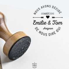 Custom Wedding Stamp - Wooden Made - Made in France by LaPirateShop Wedding Tips, Wedding Details, Wedding Events, Our Wedding, Dream Wedding, Weddings, Tampons, Autumn Wedding, Marry Me