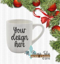 Coffee Mug Mockup Photo Christmas Mug by AllThingsJolie78 on Etsy