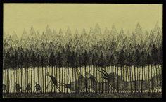 John Kenn - Postit Illustration - Monster
