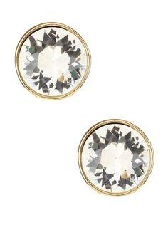 Love big crystal earrings~
