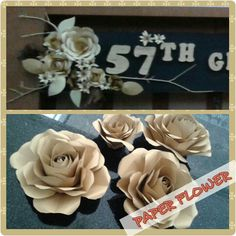 Paper flower. Very pretty and easy, using dried twigs creates different design #lusicreations