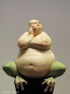 One Chinese artist's fascinating blend of mostly extreme human torsos with beastly lower-halves will probably haunt your dreams.Social media got an eyeful of Liu Xue's hybrid sculptures and reacted as. Human Sculpture, Art Sculpture, Modern Sculpture, Instalation Art, 3d Figures, Paperclay, 3d Prints, Caricatures, Figurative Art