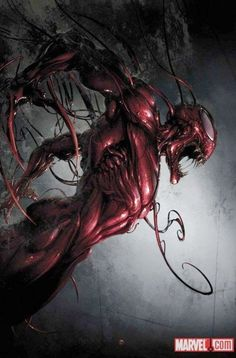 Morri na MARVEL, Carnage #2 cover by Clayton Crain.