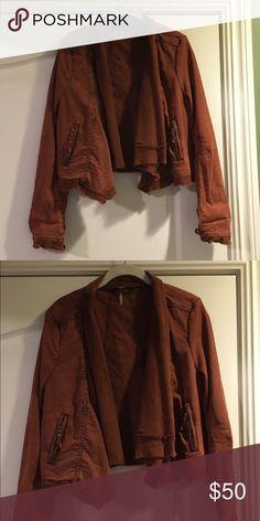 Free People jacket Free people jacket burnt orange color Free People Jackets & Coats Jean Jackets