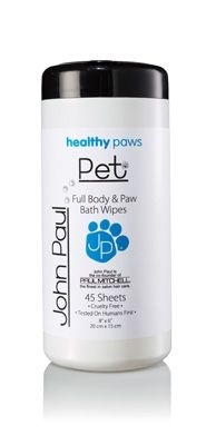 Full body and paw wipes that are designed to help keep your dog clean, fresh smelling and moisturized between their baths. These wipes are enriched with lanolin to replenish your dog's coat. Perfect for dealing with sensitive skin and they are pre-moistened witch allows them to be soft and gentle while cleaning delicate areas. $12.50