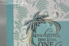 Love in Envelope: Happy Wedding: Framed Wedding Quilling Art
