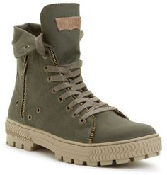 Canvas Sahara Hi Top Boots - Lyst