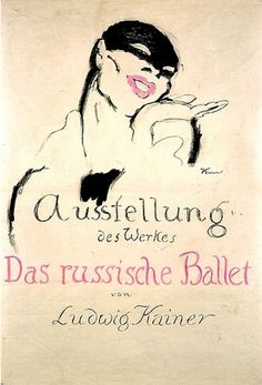 By Ludwig Kainer (1885-1967), 1 9 1 3, Exhibition of the work of the Russian Ballet.   The Ballets Russes was founded in the 1909 by Sergey Diaghilev.(G)
