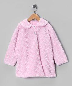 Kid Fashion Pink Minky Swirl Jacket - Infant, Toddler & Girls
