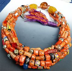 Musuem Quality Coral Berber Necklace