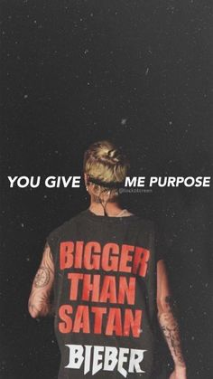 Yeah.. you've given me purpose... you are my everything