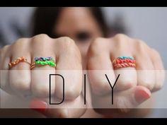DIY: Ring Macrame / Macrame Rings Friendship Rings (English subs) - YouTube