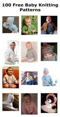 Over 100 free baby knitting patterns. by Tigerstripes41