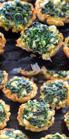 Recipes Snacks Appetizers Make these adorable and delicious Easy Spanakopita Bites and surprise your guests and family with a new twist on a traditional Greek dish. This easy appetizer will please kids and adults! Finger Food Appetizers, Appetizers For Party, Appetizer Recipes, Greek Appetizers, Brunch Finger Foods, Spinach Appetizers, Bridal Shower Appetizers, Mediterranean Appetizers, One Bite Appetizers