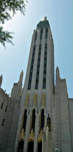In Tulsa they have this awesome Art Deco cathedral, the Boston Avenue Methodist Church.