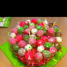 Cake balls for a girls party