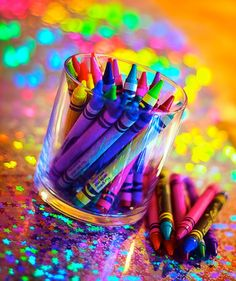 World Back Up Day-a reminder to protect your data so back it up. Then celebrate Crayola Crayon Day & go color. Relax & feel like a kid again. Happy Colors, True Colors, All The Colors, Vibrant Colors, Neon Colors, Taste The Rainbow, Over The Rainbow, World Of Color, Color Of Life