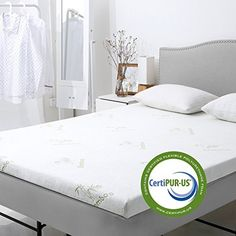 Amazing offer on LANGRIA Gel-Infused Memory Foam Mattress Topper CertiPUR-US Certified, Gel Mattress Pad Removable Zippered Bamboo Cover Non Slip Bottom (King) online - Pptoplike