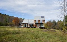 Wood effect modern Houses designs: Certified Passive House.