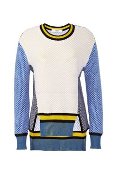 Intarsia Knit Crewneck Sweater by  for Preorder on Moda Operandi