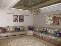 Salon Marocain Sejour Marocain, Intérieurs Marocains, Salon Marocain Moderne,  Deco Salon Marocain,