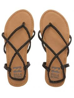 f21efb717449d Billabong - Crossing Over Braided Strappy Sandals. Strap SandalsSocks And  SandalsCute SandalsCute ShoesShoes SandalsShoe BootsPretty ShoesWomen s ...