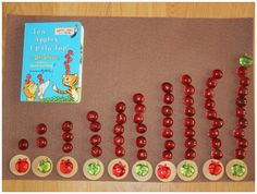 Ten apples up on top cards and counters but with all green apple numerals instead and only red apples to count out.