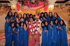 23 Bridesmaids in Blue Saris