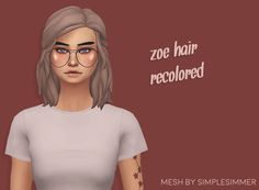 now at antiquewalnut! — blogsimplesimmer's zoe hair recolored! mesh is NOT...