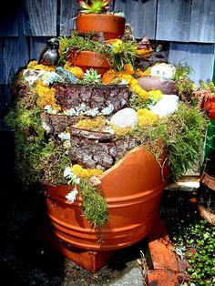 Recycling broken Terra Cotta Pots