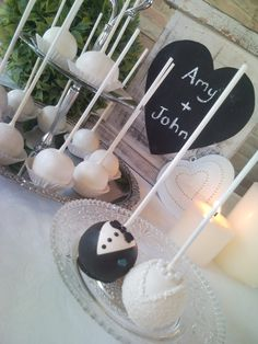 Wedding cakepops - Not from my wedding, but the names are right! :)