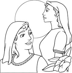 jacob and rachel coloring pages - photo#18